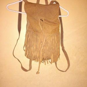 Suede Fringe purse